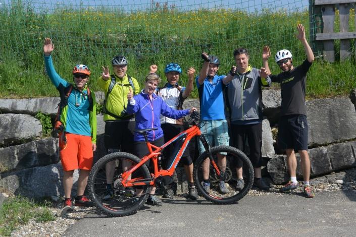 E Mountainbike Kurs Gruppe