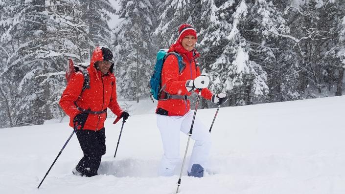 Geführte Schneeschuhtour Sicherheit