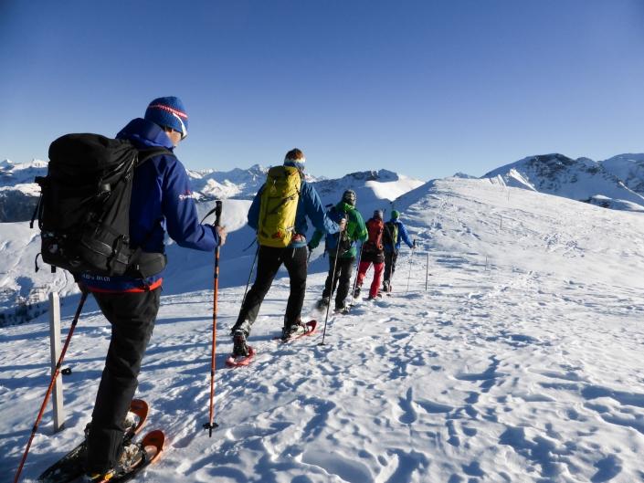 Geführte Schneeschuhtour Team