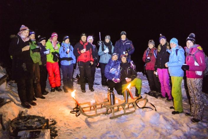 Firma bei Schneeschuhwandern Einsiedeln