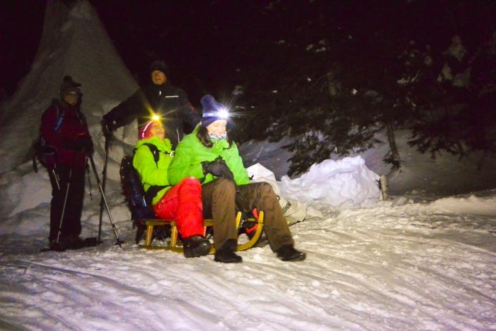 Schlitteln Schneeschuhwandern Einsiedeln