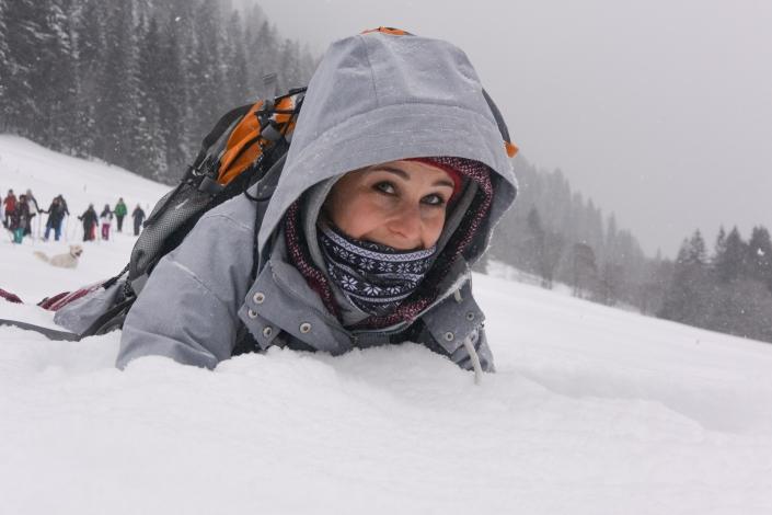 Lehrkraft Schulreise Winter Schnee